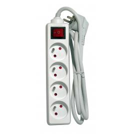 Multiprise avec interrupteur 4 prises blanc CHACON