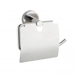 Porte-rouleau papier toilette avec rabat Bosio inox brillant WENKO