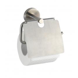 Porte-rouleau papier toilette avec rabat Bosio inox mat WENKO