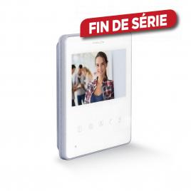 """Ecran supplémentaire 4,3"""" pour vidéophone blanc CHACON"""
