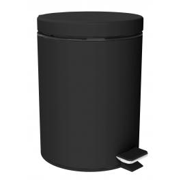 Poubelle de salle de bain noire mate Loft Game ALLIBERT