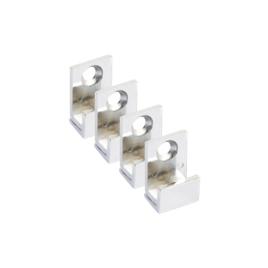 Fixations chromées pour miroir 4 pièces LAFINESS