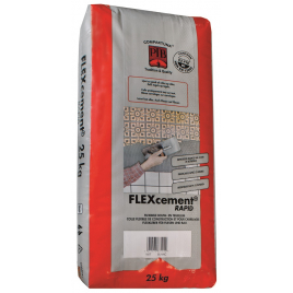 Colle pour carrelage Flexcement Rapid blanc 25 kg