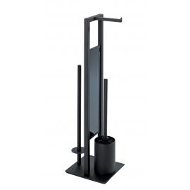 Porte-rouleau et brosse de toilette Rivalta noir WENKO