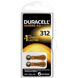 Pile bouton auditive DA312 6 pièces DURACELL