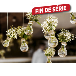 Toile Ampoules en Vases 97 x 65 cm