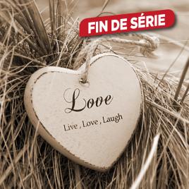 Toile Live Love Laugh 30 x 30 cm