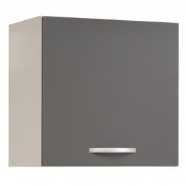 Meuble de cuisine haut Eko gris brillant 60 x 35 x 58 cm EKIPA