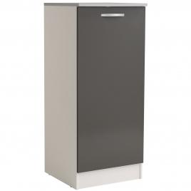 Meuble de cuisine Eko frigo gris brillant 60 x 60 x 140 cm EKIPA