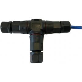 Connecteur étanche en T pour câble de tondeuse robot 1 mm²