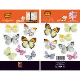 Planche de stickers Papillons 2 pièces