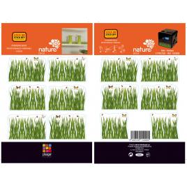 Planche de stickers Herbes 2 pièces