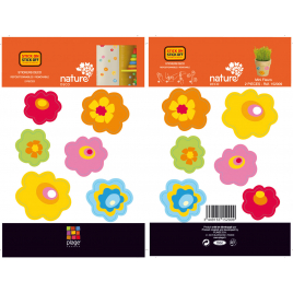Planche de stickers Fleurs 2 pièces