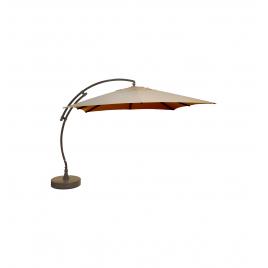 Parasol déporté et inclinable Easy Sun taupe clair 320 x 320 cm SUNGARDEN