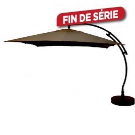 Parasol déporté et inclinable Easy Sun chocolat 320 x 320 cm SUNGARDEN