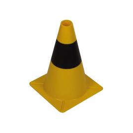Cône de signalisation noir et jaune 30 cm PEREL