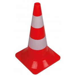 Cône de signalisation rouge et blanc 50 cm PEREL