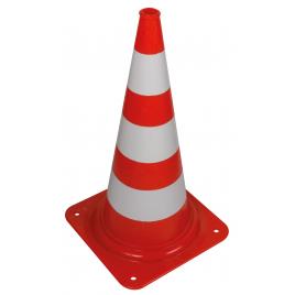 Cône de signalisation rouge et blanc 75 cm PEREL