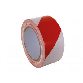 Ruban de marquage adhésif rouge et blanc 33 m PEREL