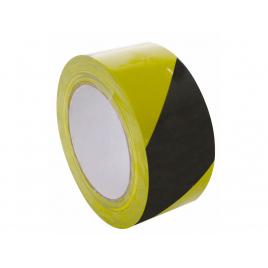 Ruban de marquage adhésif noir et jaune 33 m PEREL
