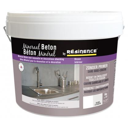 Enduit de rénovation béton minéral blanc 6 kg