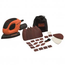 Ponceuse de détail électrique Mouse BEW230 55 W BLACK+DECKER