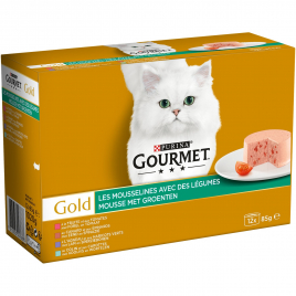 Pâtée pour chat Les Timbales de Viande Gourmet Gold 12 pièces PURINA