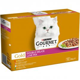 Pâtée pour chat Les Noisettes Gourmet Gold 12 pièces PURINA