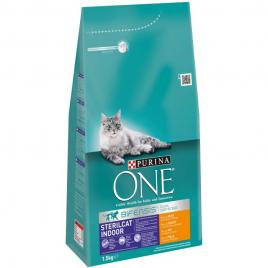 Sac de croquettes au boeuf pour chat One Bifensis Sterilcat 1,5 kg PURINA