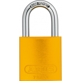 Cadenas à clé en aluminium série 72 40 mm jaune ABUS