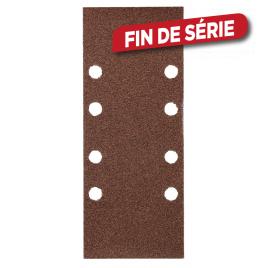 Patin abrasif perforé bois et métal 93 x 230 mm 30 pièces