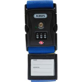 Sangle à bagage à combinaison TSA bleue ABUS