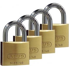 Cadenas à clé en laiton 40 x 62 mm 4 pièces ABUS