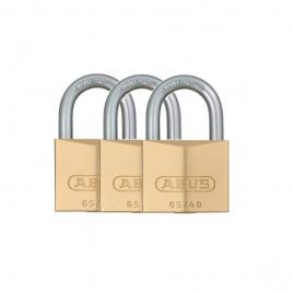 Cadenas à clé en laiton 40 x 62 mm 3 pièces ABUS