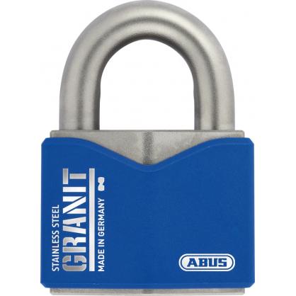Cadenas à clé en acier inoxydable Granit 62 x 85 mm ABUS