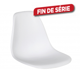 Assise Mora 44 x 46 x 53 cm blanche PRACTO HOME