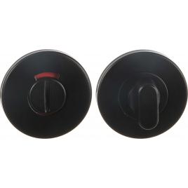 Fermeture avec rosace pour WC en acier inoxydable noire LINEA BERTOMANI