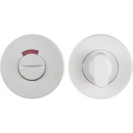 Fermeture avec rosace pour WC en acier inoxydable blanche LINEA BERTOMANI