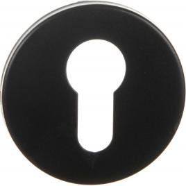 Entrée pour cylindre en acier inoxydable noire 2 pièces LINEA BERTOMANI