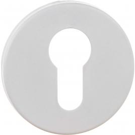 Entrée pour cylindre en acier inoxydable blanche 2 pièces LINEA BERTOMANI