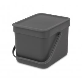 Poubelle Sort & Go avec détecteur infrarouge 6 L grise BRABANTIA