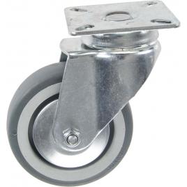 Roulette pivotante en thermo plastique avec pare-fils Ø 75 mm