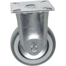Roulette fixe en thermo plastique avec pare-fils Ø 75 mm
