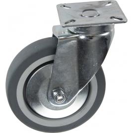 Roulette pivotante en thermo plastique avec pare-fils Ø 100 mm