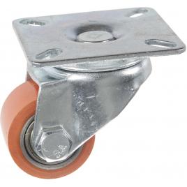 Roulette pivotante en polyuréthane pour charge lourde Ø 35 mm