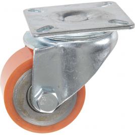 Roulette pivotante en polyuréthane pour charge lourde Ø 50 mm