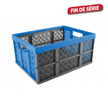 Caisse pliable Square bleue anthracite SUNWARE