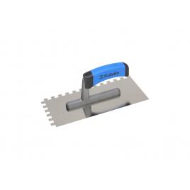 Plâtresse en acier inoxydable crantée 0,4 x 27 x 13 cm