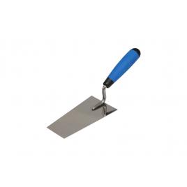 Truelle de plâtrier en acier inoxydable trapézoïdale 14,5 x 8 x 5,5 cm