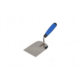 Truelle de plâtrier en acier inoxydable à bord droit 8 cm